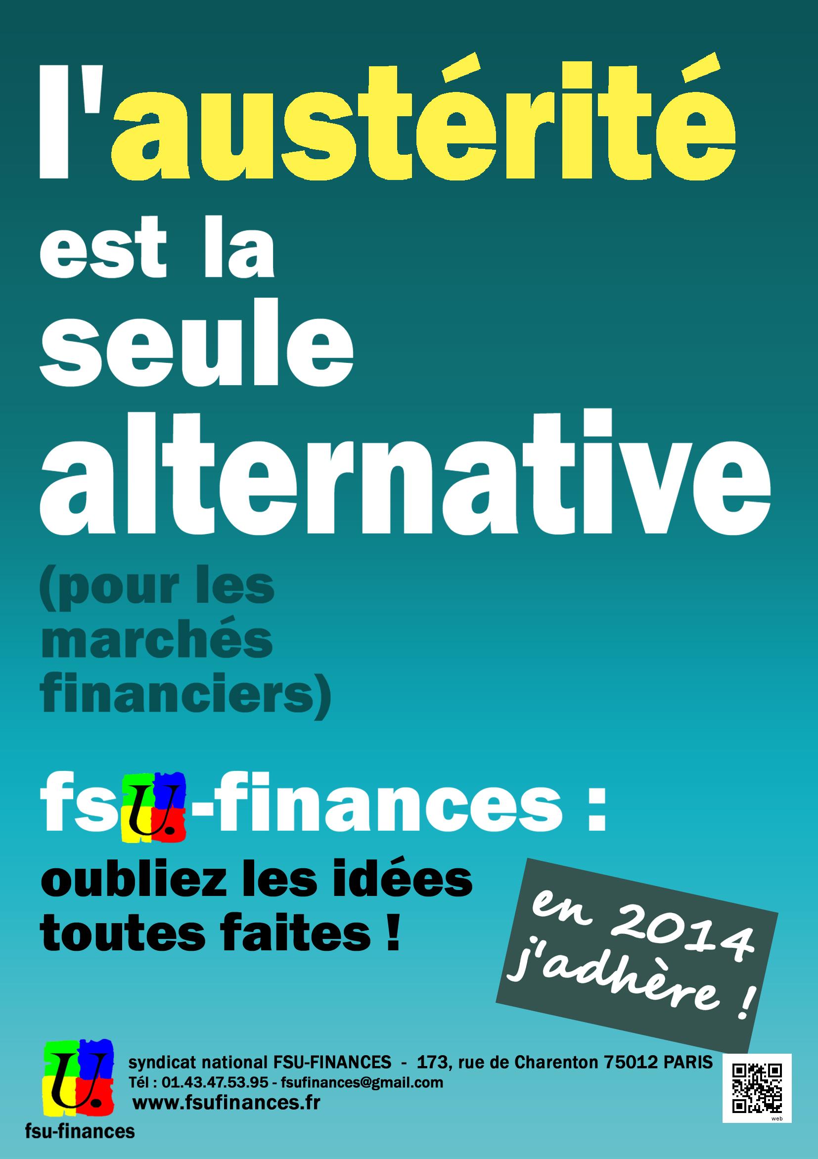 Austérité chance bleu